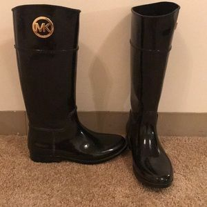 Michael Kors tall, black rain boots